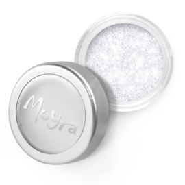 Glitter powder nr 1 - Wit / Zilver