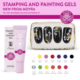 Moyra Stamping and Painting Gel Set met 13 kleuren