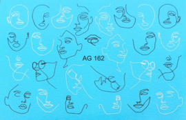 Airbrush Waterdecal   AG 162 Black/White