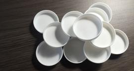 Kunststof cups voor metaal palet  12 stuks
