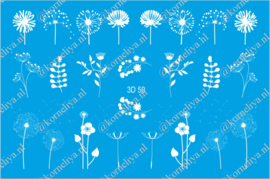 3D Waterdecal - 3D 50 White