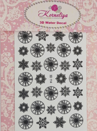 3D Waterdecal - 3D 114 Black
