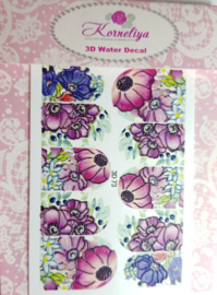 3D Waterdecal - 3D 73 Donker