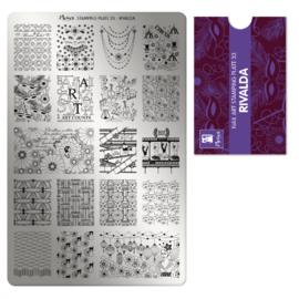 Moyra Stamping Plate 33 Rivalda
