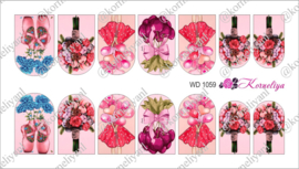 Water Decal - Nail Wrap WD 1059