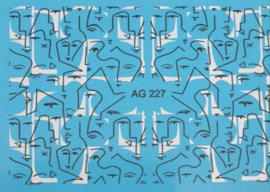 Airbrush Waterdecal   AG 227 Black/White