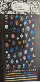 Korneliya 3D Nail Jewels XL - XL03 Rainbow Stones