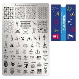 Moyra Stamping Plate 108 CHAMPION