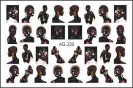 Korneliya Airbrush Waterdecal   AG 336