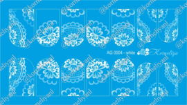Airbrush Waterdecal   AG 0004 White