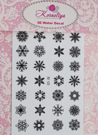 3D Waterdecal - 3D 122 Black