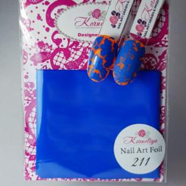 Korneliya Nailart Folie Mat Craquelé Azuur blauw211