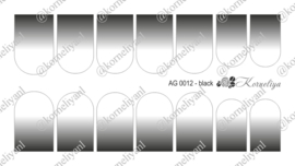 Airbrush Waterdecal   AG 0012 Black
