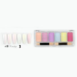 Solide Nail art pigment set 3