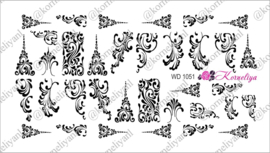 Water Decal - Nail Wrap WD 1051