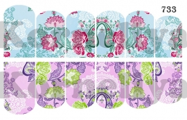 Water Decal Nail Wrap 733