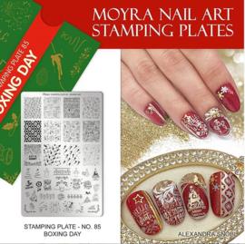 Moyra Stamping Plate 85 Boxing Day - Christmas