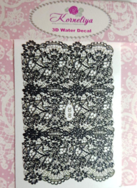 3D Waterdecal - 3D 80 Black