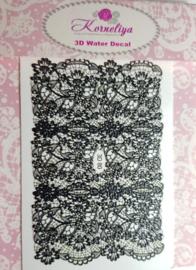 Korneliya 3D Waterdecal - 3D 080 Black