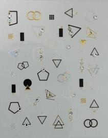 Korneliya 3D Nail Jewels DeLuxe - DL03 Geomatric Diamonds