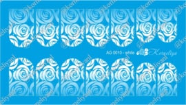Airbrush Waterdecal   AG 0010 White