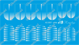 Airbrush Waterdecal   AG 0007 White