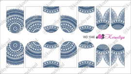 Water Decal - Nail Wrap WD 1046