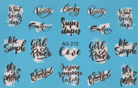 Airbrush Waterdecal   AG 212 Black/White