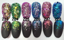 Korneliya HOLO Glitter Mix Set 6 stuks 223-228