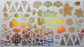 Foil Wrap 139 Holografisch Goud - Kerst Design 139