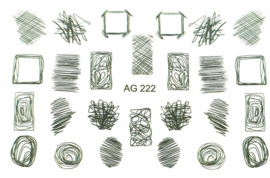 Airbrush Waterdecal   AG 222 black