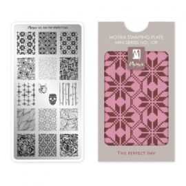 Moyra Mini Stamping Plate 109 The Perfect Day