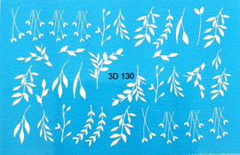 3D Waterdecal - 3D 130 White
