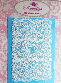 3D Waterdecal - 3D 80 White