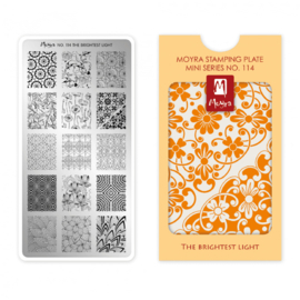 Moyra Mini Stamping Plate 114 The Brightest Light