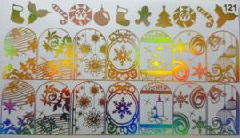 Foil Wrap 121 Holografisch Goud - Kerst Design 121