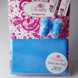 Korneliya Nailart Folie Mat Craquelé Licht Blauw 205