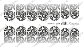 Airbrush Waterdecal   AG 0010 Black