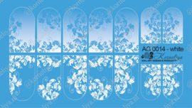 Airbrush Waterdecal   AG 0014 White