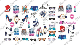 Water Decal - Nail Wrap WD 1042