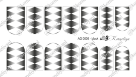 Airbrush Waterdecal   AG 0009 Black