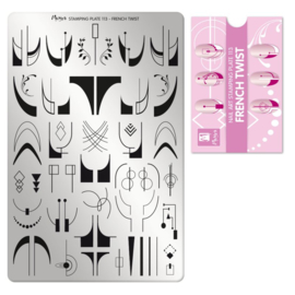 Moyra Stamping Plate 113 FRENCH TWIST