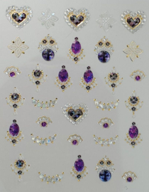Korneliya 3D Nail Jewels DeLuxe - DL11 Shiny Amethyst