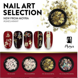 Nail art Selection nr 3 Gold Metal
