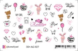 Korneliya 3D+ AG 027 Waterdecal