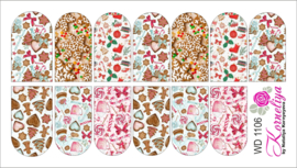 Water Decal - Nail Wrap WD 1106