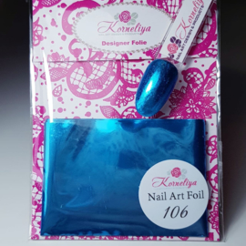 Korneliya Nailart Folie 106  Licht Blauw