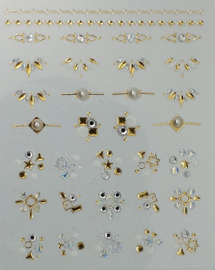 Korneliya 3D Nail Jewels DeLuxe - DL05 Pearls and Diamonds