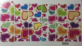 Water Decal Nail Wrap 380
