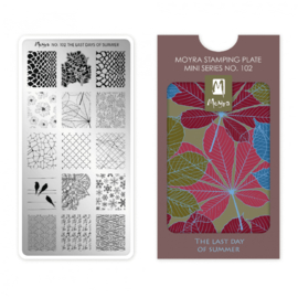 Moyra Mini Stamping Plate 102 The Last Day of Summer